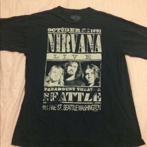 Nirvana Live Seattle tshirt men's large